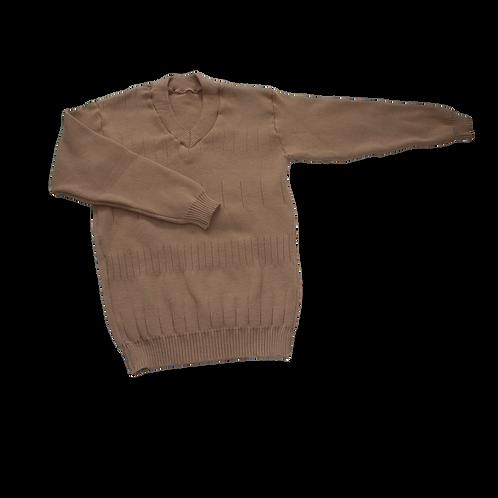 V-Neck Knitted Golf Sweater