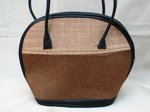 Woven Love Bowl Bag: brown/tan