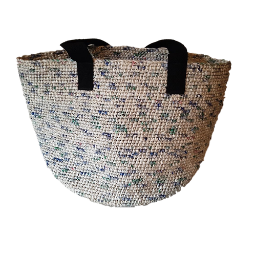 Large Soko Beach Bag: Speckled Blue