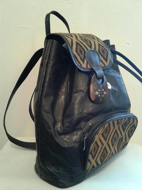 Mud / Leather Backpack (medium)
