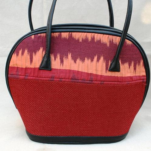 Woven Love Bowl Bag: Berry