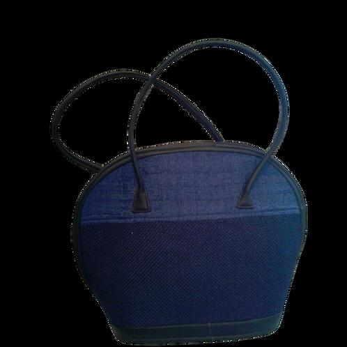 Woven Love Bowl Bag: Blue