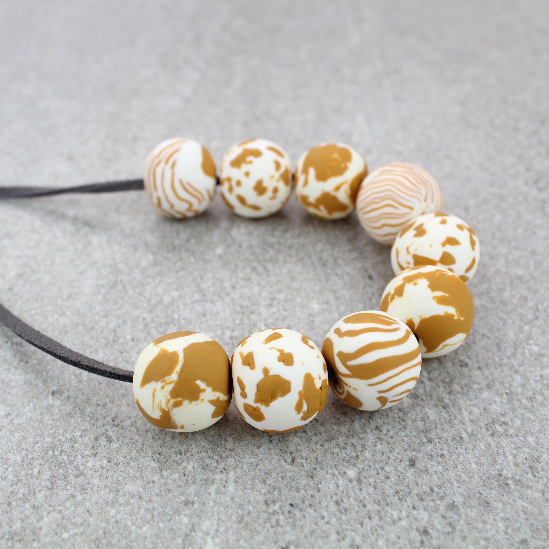 Ochre Marble Beads