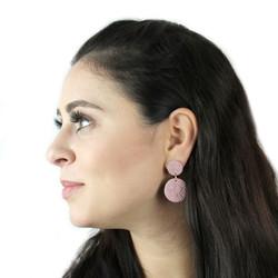 Dusty Pink Infinity Earrings