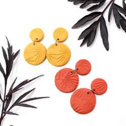 Ochre & Terracotta Infinity Earrings