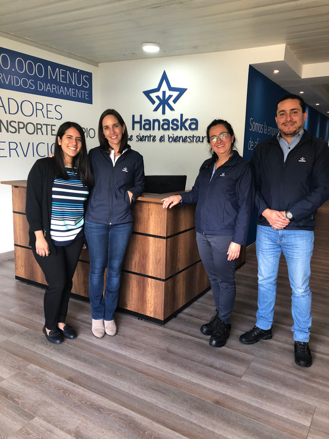 Our project manager Maria visiting a facility in Ecuador