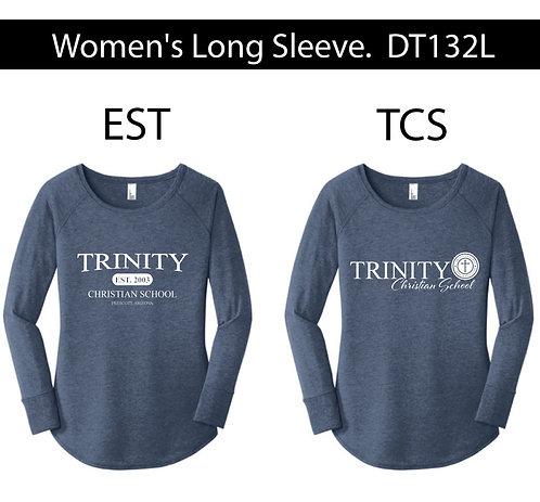 Women's Long Sleeve Tunic Tee. DT132L