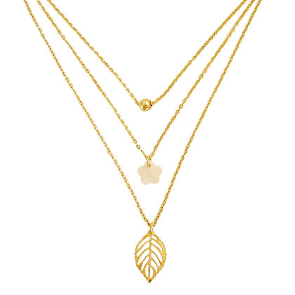 Lipa 3-Chain Necklace in Gold