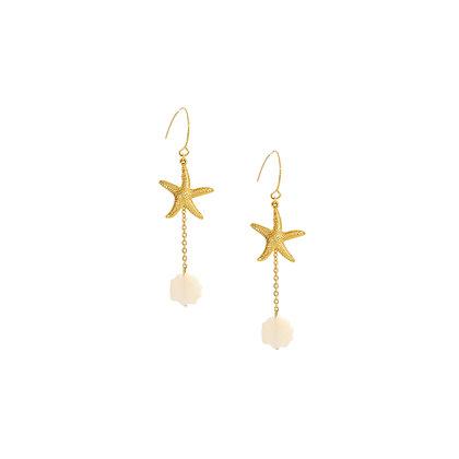 Pampa Earrings in Shell