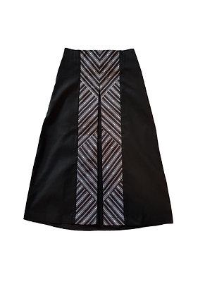 Linen Box Pleated Skirt