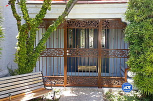 custom iron, iron security door, iron entry way, front door, iron art