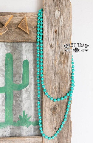 Crazy Train Marbelous Turquoise Necklace