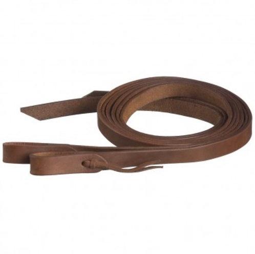 "Heavy Harness Leather Split Reins 1"" x 8'"
