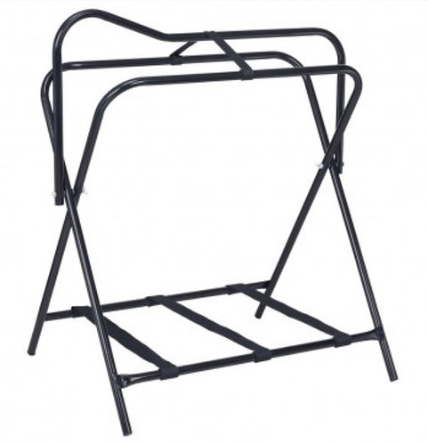 Folding Floor Saddle Rack w/Web Bottom