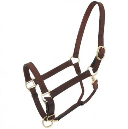 Leather Stable Halter w/snap