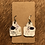 Thumbnail: Handmade Cowhide & Leather Cow Tag Earrings