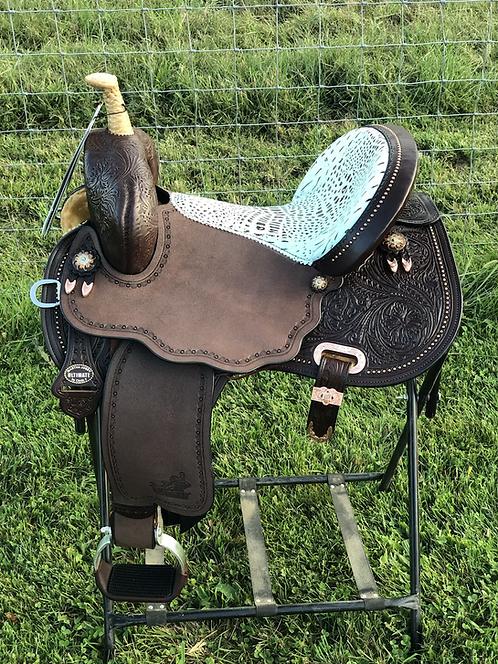 "Circle Y 15"" Custom Josey Ultimate Cash Barrel Saddle"