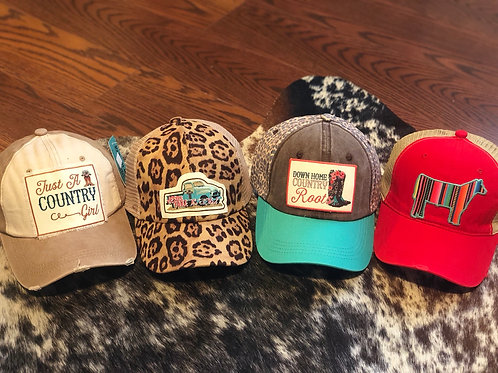 Ladies Distressed Hats