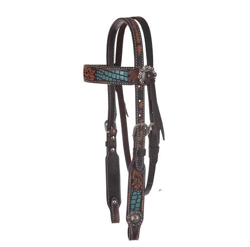 Circle Y Pony Inlaid Filigree Browband Headstall