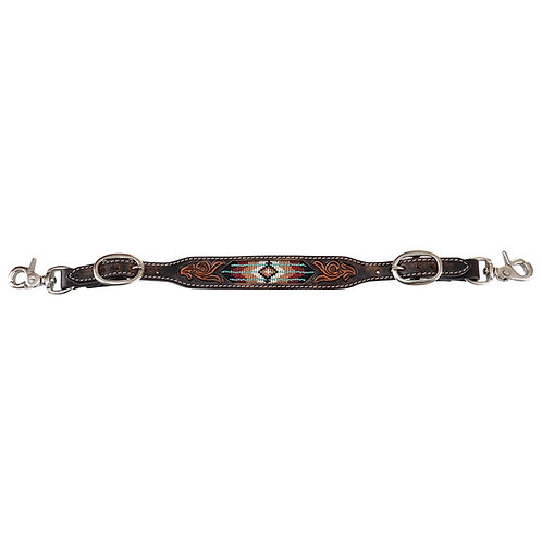 Circle Y Distressed Southwestern Beaded Wither Strap