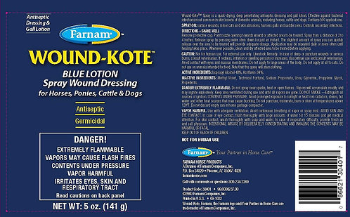 Wound Kote Blue Lotion Spray Wound Dressing 5oz