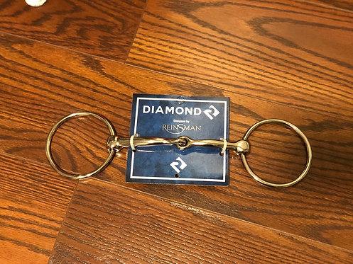 Diamond R Loose Ring Snaffle Bit
