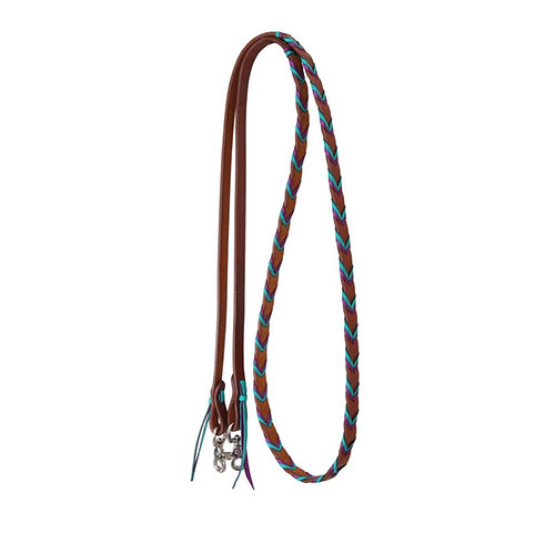 Rafter T Leather Laced Barrel Reins