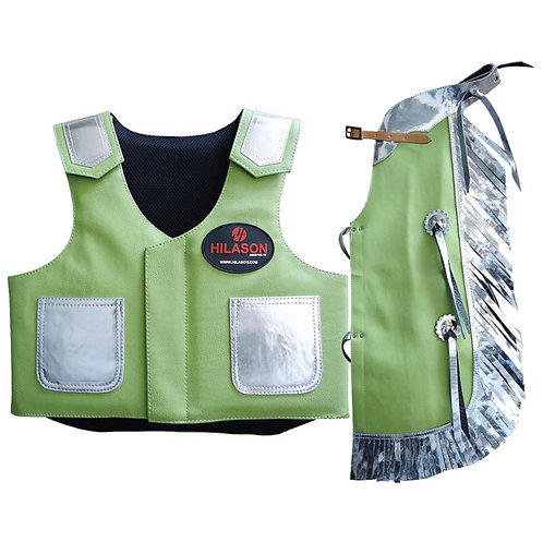 Hilason Junior Youth Bull Riding Protective Vest & Chaps