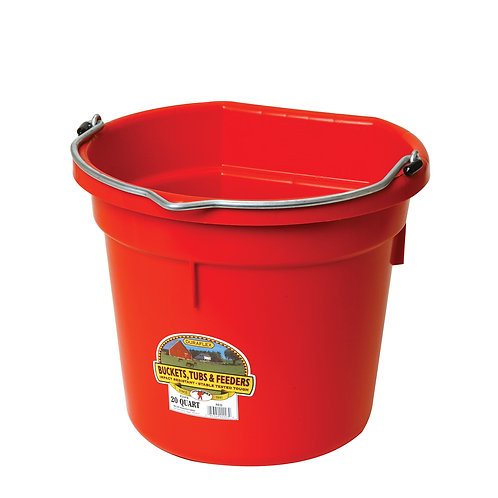 20 QT. Flat Back Bucket