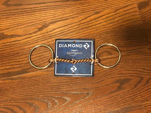 Diamond R Medium Loose Ring Snaffle Bit