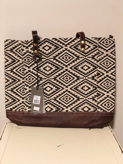 Black Aztec Tote Bag