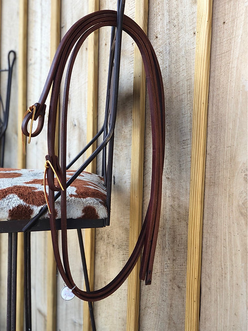 Weighted Leather Split Reins