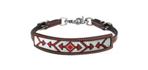 Red Beaded Wither Strap