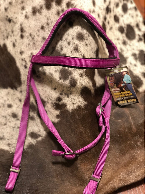 Weaver Purple Nylon Headstall