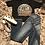 Thumbnail: Black/White Cowhide Sneakers