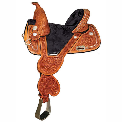 "Tammy Fischer Bling Signature 14.5"" Treeless Barrel Saddle"
