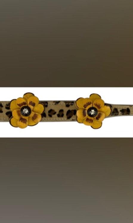 Cheetah Hairon Flower Dog Collars