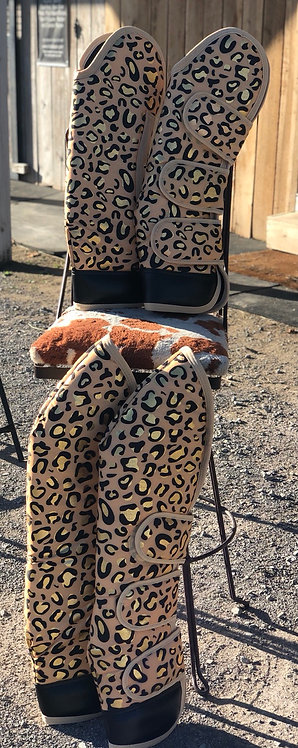 Gold Cheetah Shipping Boots