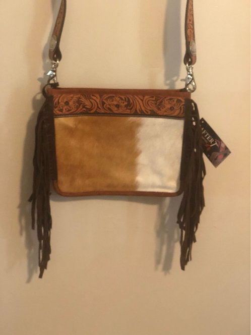 Hairon Tooled Top Crossbody Conceal Carry Bag
