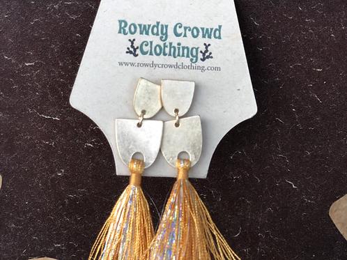 Gold Shimmer Earrings