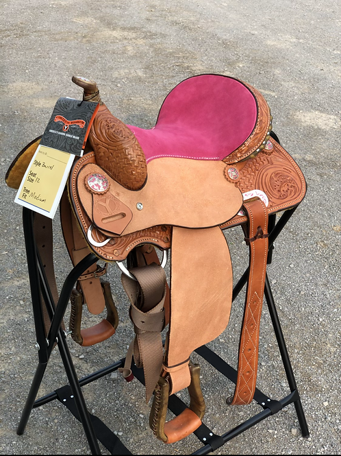"""Circle Y Little Cowpoke 12"""" Barrel Saddle - Closeout Special"""