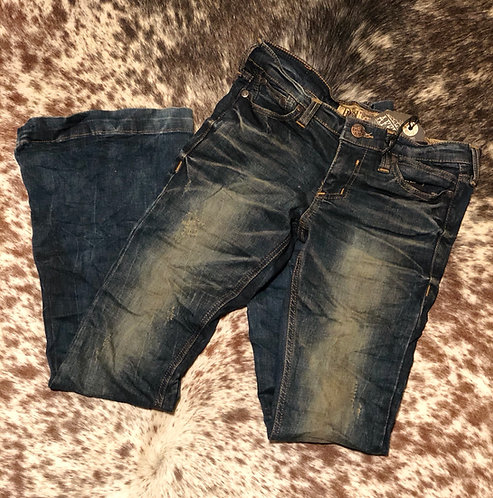 Affliction Ginger Distressed Flare Jeans