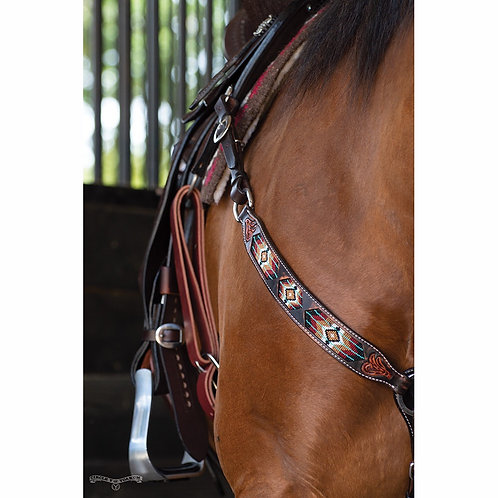 Circle Y Distressed Southwestern Beaded Inlay Tack Set