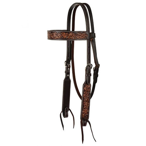 Circle Y Filigree Inlay Browband Headstall