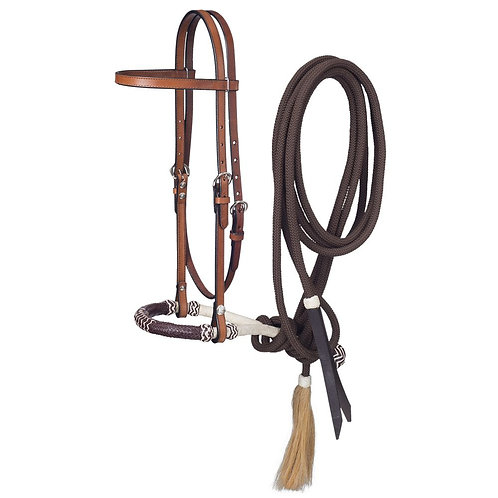 Royal King Browband Headstall w/Bosal & Mecate Set