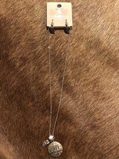 Happy Camper Necklace & Earrings