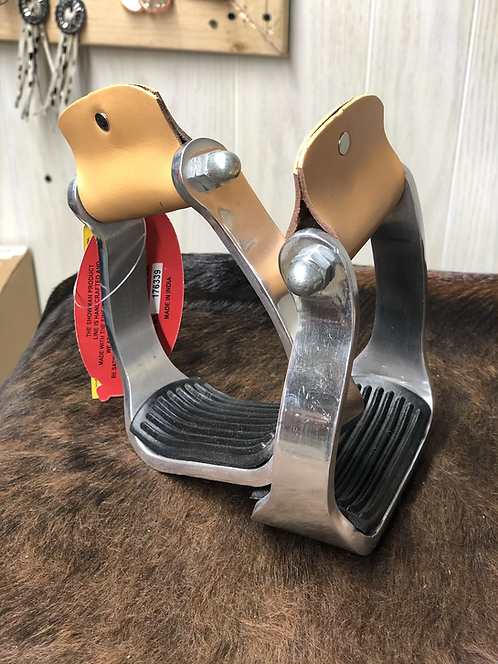 Aluminum Pony/Yourh Stirrups with Rubber Thread