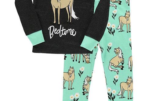 LazyOne Pasture Bedtime Mint Horse PJ Set