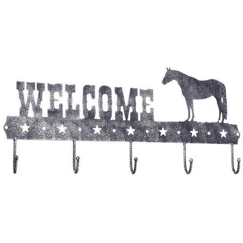 Welcome Coat Rack Black/Silver