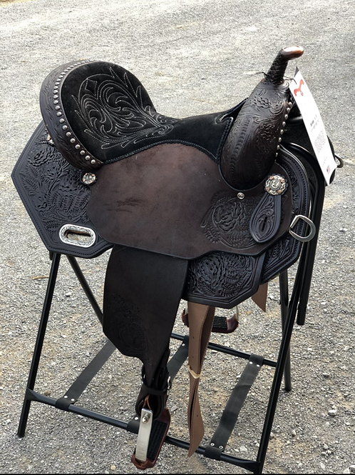 "Circle Y Sarah Rose Rambling Rose 14.5"" Barrel Saddle"